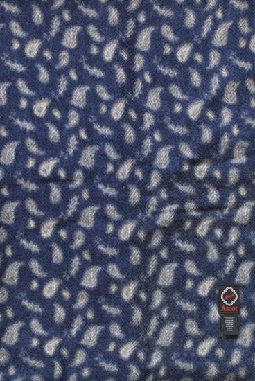 Schal 100% Kaschmir Paisley Blau-ecru 8180005-1