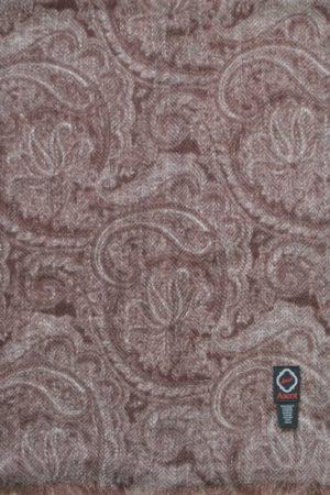 Schal 100% Kaschmir Ranken Braun-beige 8180012-1