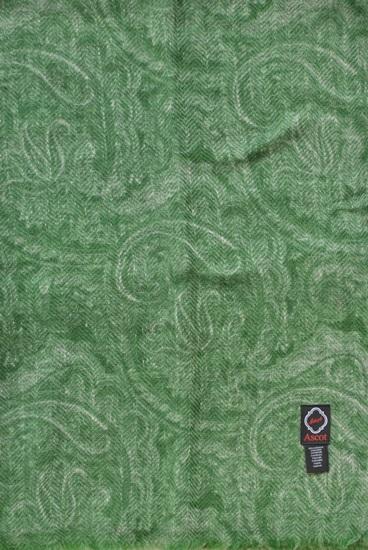Schal 100% Kaschmir Ranken Grün-beige 8180011-1
