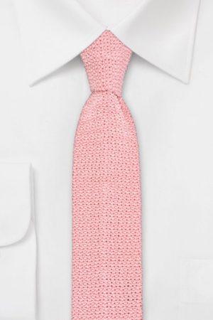 Strickkrawatte 100% Seide Uni Rosa 631502-26