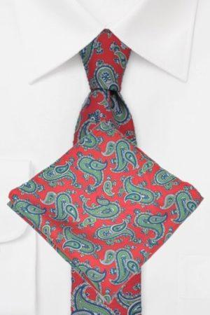 Krawatten mit Ziertuch